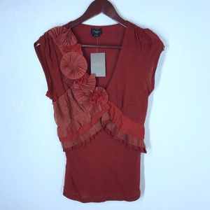 Anthro Deletta Rose Floral Textured Tank Size XS